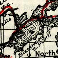 Boundary Water 1929 Historic Map